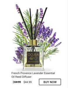 Buy Oojra Essential Oil French Provence Lavender Reed Diffuser for only 44.99 when regularly 64.99