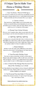 Infographic Make your Home a Holiday Haven