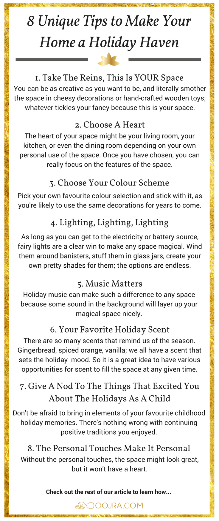 Make Your Home a Holiday Haven with These Unique Tips - Oojra
