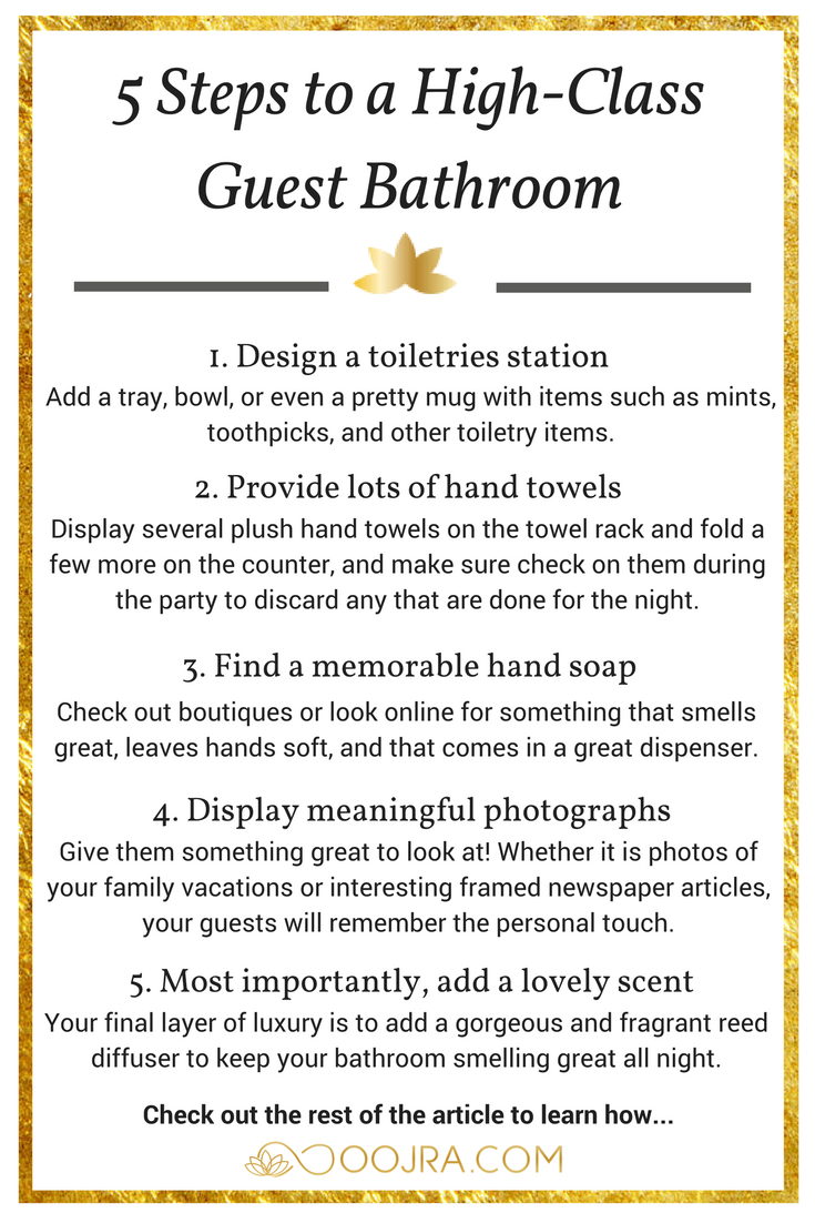 5 Steps to a High-Class Guest Bathroom - Oojra