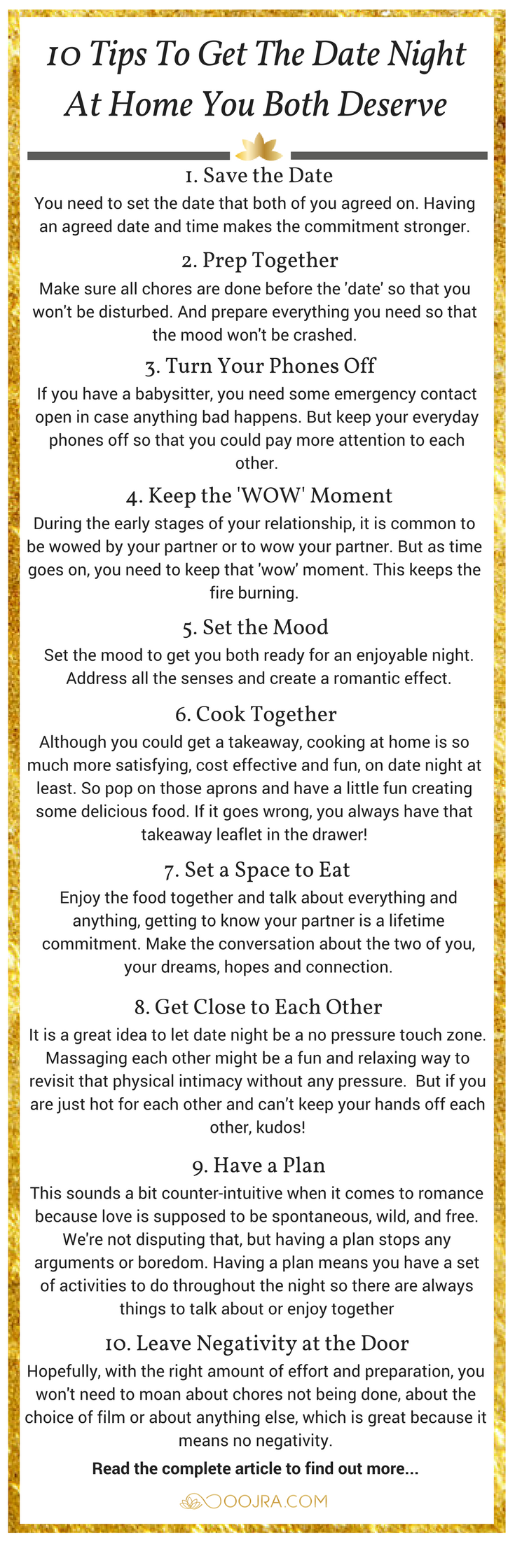 How To Get The Date Night At Home You Both Deserve - Oojra