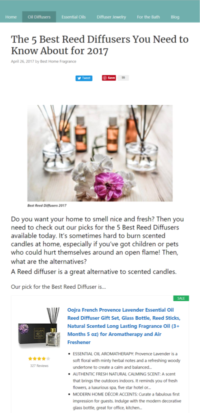 Best Home Fragrances Has Chosen Oojra As The Essential Oil Reed Diffuser